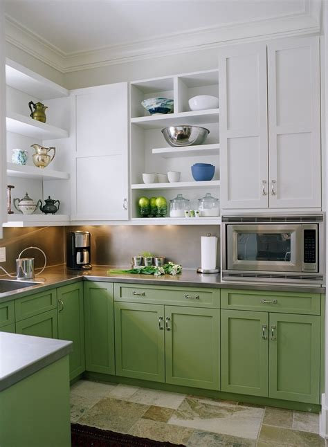 sustainable kitchen cabinets two tone kitchen cabinets transitional with open shelves home kitchen