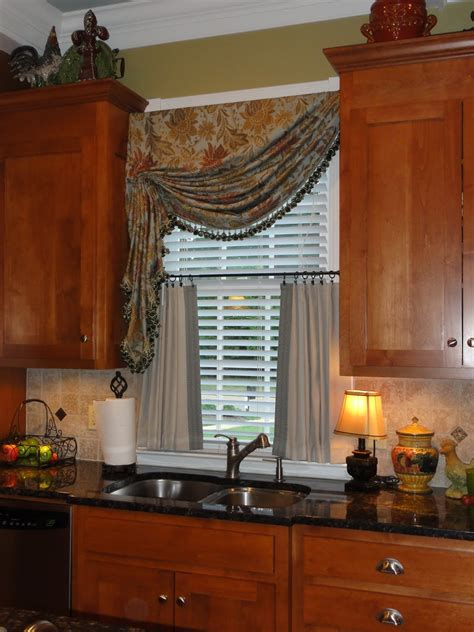 window treatments for kitchen simply by sabrina kitchen window treatment add on