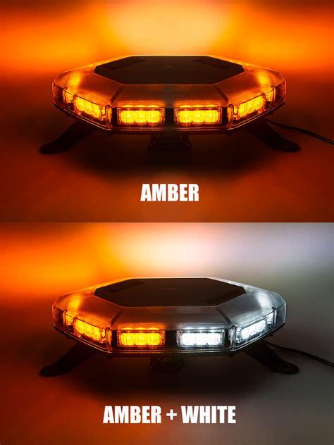 amber and white light bar emergency led light bar 360 degree strobing led mini