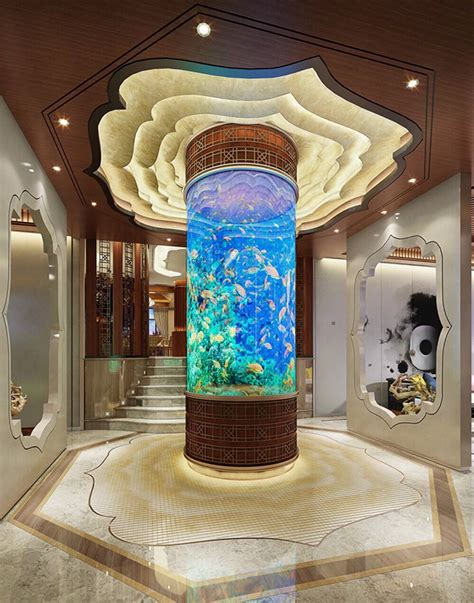 luxury home interiors  beautiful aquarium decor roohome