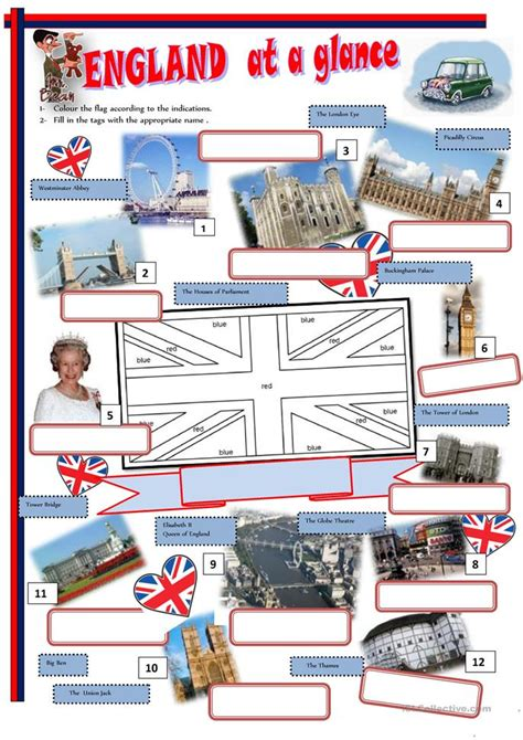 printable quiz about england england at a glance worksheet free esl printable