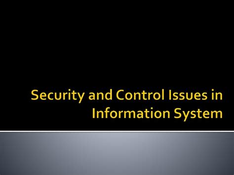 security and issues in information system