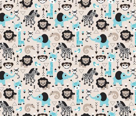 design pattern for zoo geometric jungle zoo safari animals adorable kids design