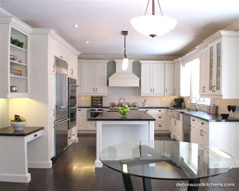 kitchens for flats large kitchen painted flat panel doors desk area open shelves custom cabinet matching