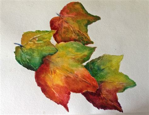 watercolor tutorial leaf autumn leaves watercolor tutorial how to paint step by