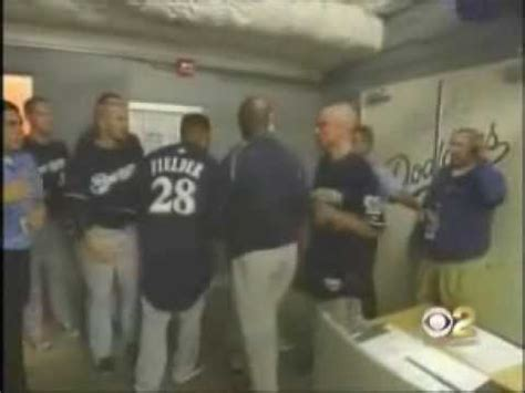gets beat up in locker room prince fielder tries to get into dodgers locker room to fight
