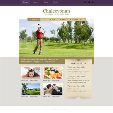 Ready Resort And Country Club Website Template Free Website Templates Free Club Website Templates