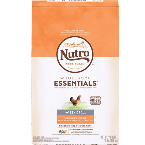 nutro wholesome essentials puppy nutro wholesome essentials senior chicken whole brown rice sweet potato recipe 15 lb