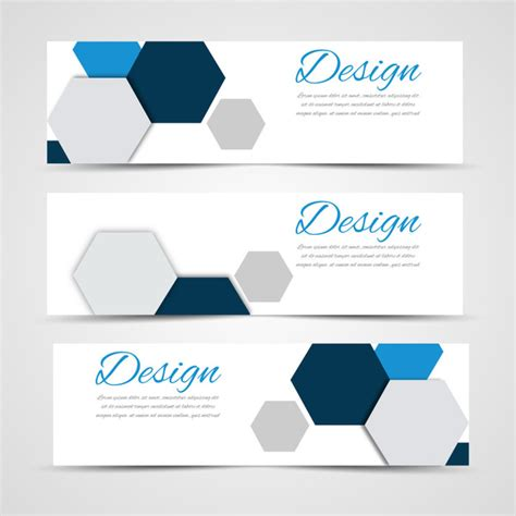 design large banner hexagon free vector download 217 free vector for