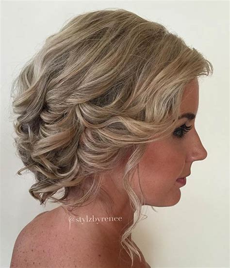 hairstyles for short curly hair updos trubridal wedding blog 31 wedding hairstyles for short