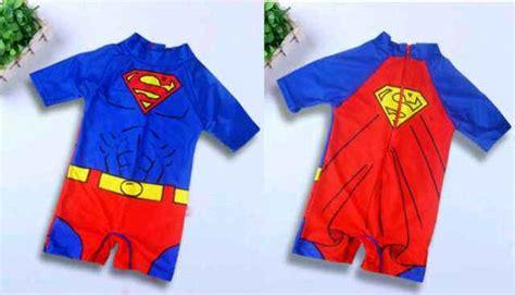 Baju Renang Bayi Emblem Superman jual superman swimwear baju renang anak import branded