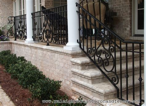 wrought iron front porch railings new york city ny new jersey custom wrought iron railings