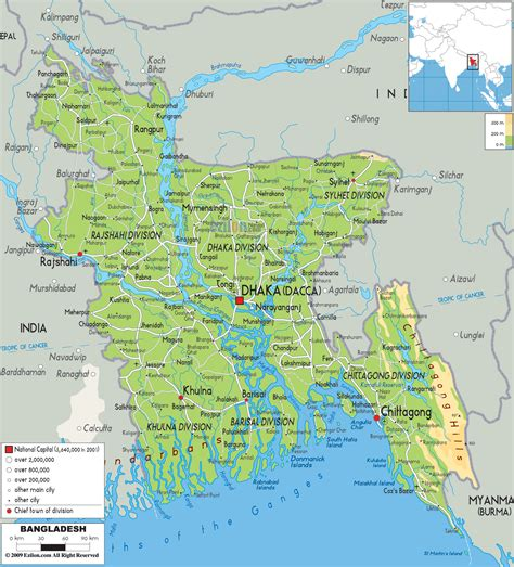 bangladesh map  bangladesh satellite image