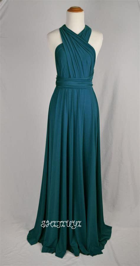 Infinity Dress Teal Wedding Bridesmaid Wrap Convertible | bridesmaid dress teal infinity dress floor length wrap