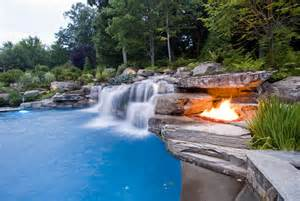 pool designs with waterfalls swimming pool landscaping ideas