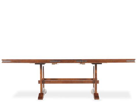 mango trestle dining table winners only mango trestle table mathis brothers furniture