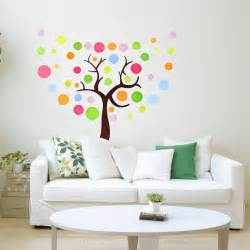 Colourful Wall Stickers Colorful Tree Wall Sticker Wallstickerdeal Com