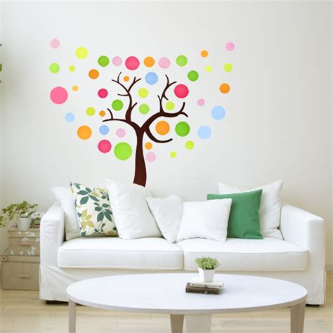 wall sticker tree colorful tree wall sticker wallstickerdeal