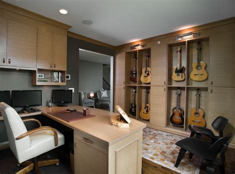 home music room dual music room office eclectic home office chicago