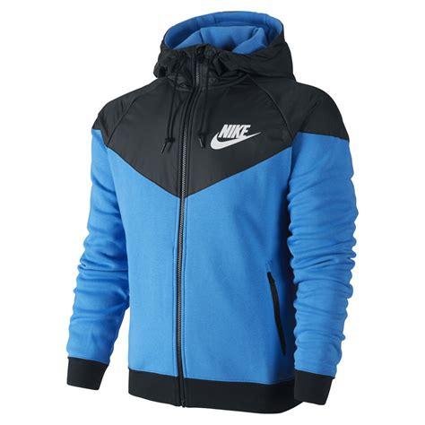 Nike Hoody Jaket Nike Wanita Jaket Nike Pria Jaket Nike Ori nike s windrunner fleece mix jacket photo blue probikekit australia