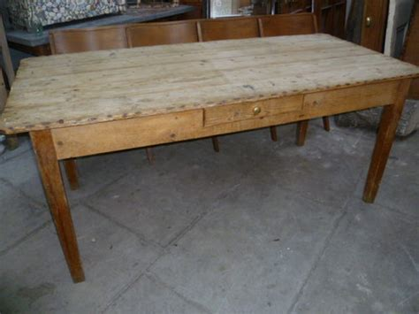 Antique Pine Dining Table Antique Pine Scrub Top Dining Table Antiques Atlas