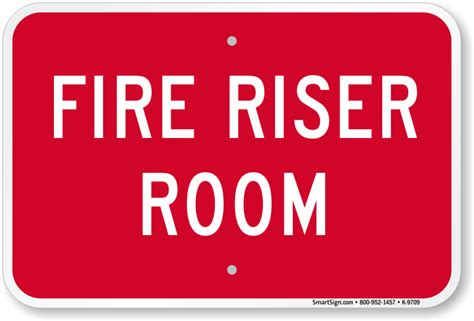 riser room safety sign sku k 9709 mysafetysign