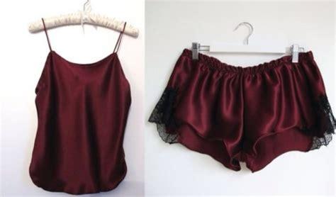 Piyama Satin Velvet White Flamingo tank top wine burgundy pajamas silk shorts