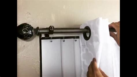 inside mount brackets for curtains inside mounted blinds curtain rod bracket attachment youtube