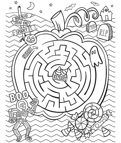 halloween coloring pages mazes halloween maze coloring page crayola com