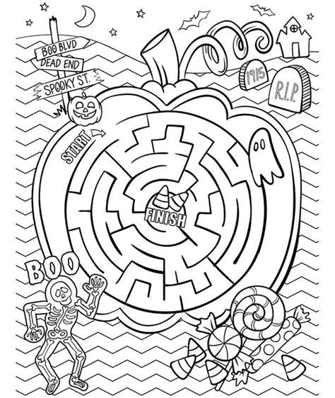 halloween maze coloring page crayola com