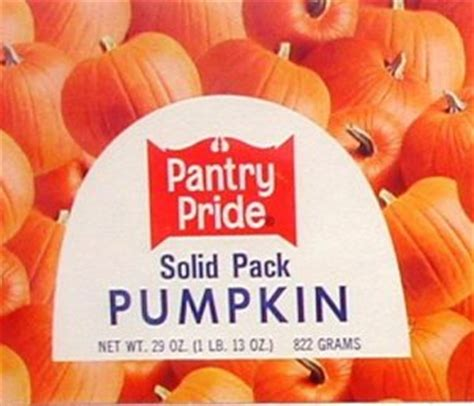 Pantry Pride by Pantry Pride Pumpkin Can Label Philadelphia Pa