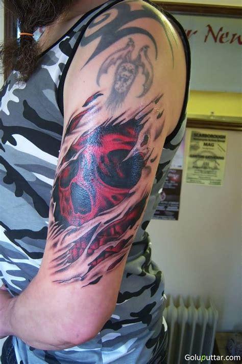 torn tattoo designs 3d ripped skin tattoos