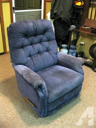 blue lazy boy rocker recliner for sale in ashland
