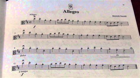 Allegretto Suzuki Suzuki Viola School Vol 1 No 9 Allegro