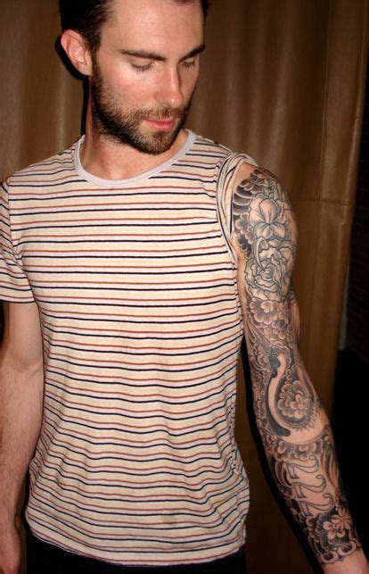adam levine tattoo sleeve 109 best tattoos images on