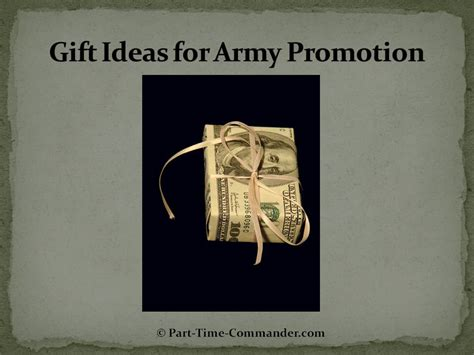 Gift Ideas for Army Promotions, ETS and Retirement