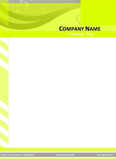 letterhead layout template letterhead design template doc ninareads com