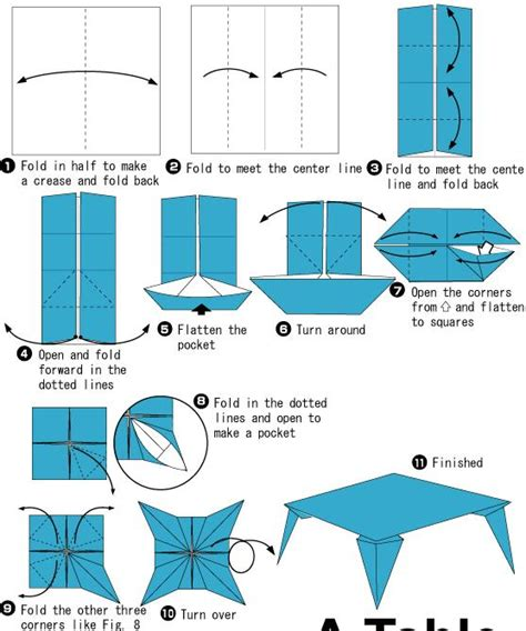 How To Make An Origami Table - how to make origami table 28 images traditional