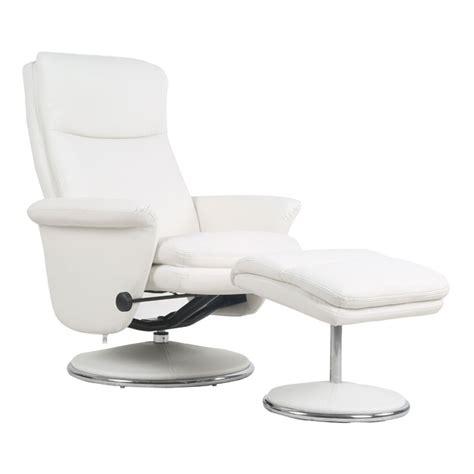 fauteuil simili fauteuil de relaxation simili cuir blanc niagara univers salon