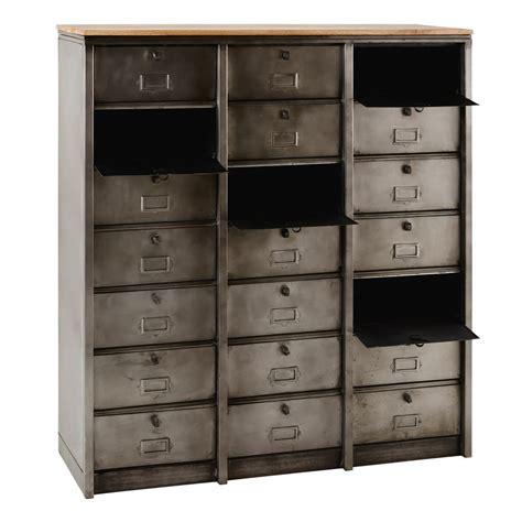 cassetti in metallo mobiletto stile industriale a 21 cassetti in metallo