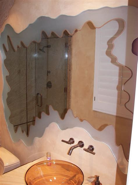 custom bathroom mirrors custom mirror sans soucie art glass