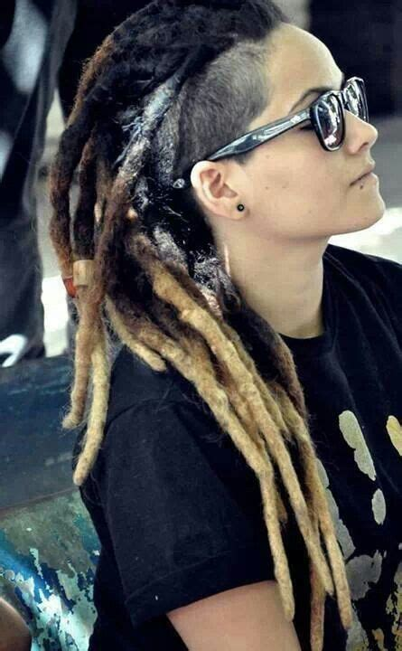 shaved side hairstyles with dreads dread mohawk dreads braids wraps pinterest