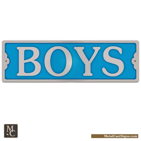 boys bathroom sign boys 8 25 quot aluminum door sign metal cast sign co