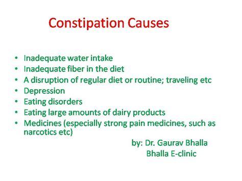 constipation symptoms dr bhalla s e clinic