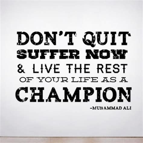 Tshirt Just Do It Never Quit quit suffer wall decal quotes