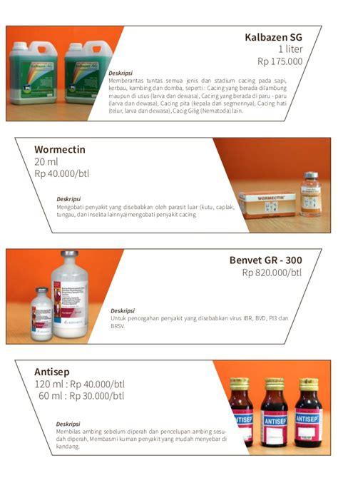 Obat Cacing Domba katalog produk waroeng domba obat ternak peralatan ternak