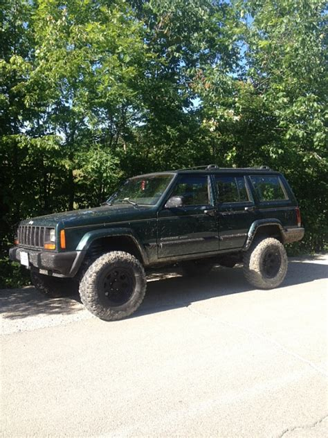 stock jeep size max tire size for stock xj with 15 quot wheels jeep
