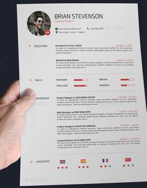Masque Pour Cv by 24 Templates De Cv Sur Photoshop