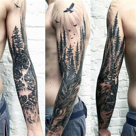 nature sleeve tattoo 25 best ideas about forest sleeve on