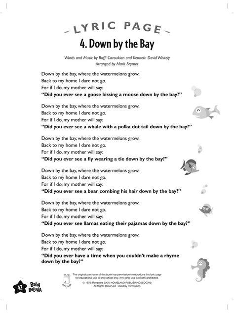 printable lyrics baby beluga baby beluga raffi